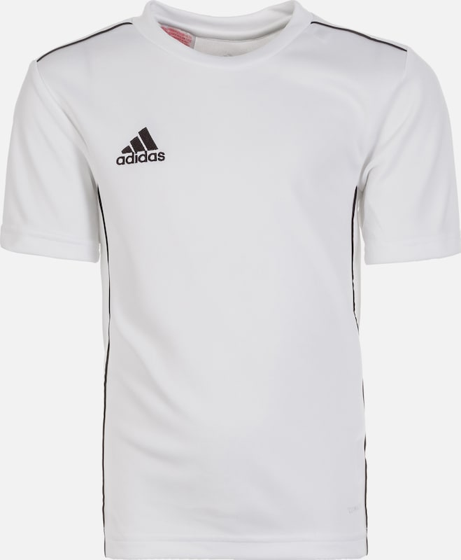 ADIDAS PERFORMANCE Trainingsshirt 'Core 18' in schwarz / weiß: Frontalansicht