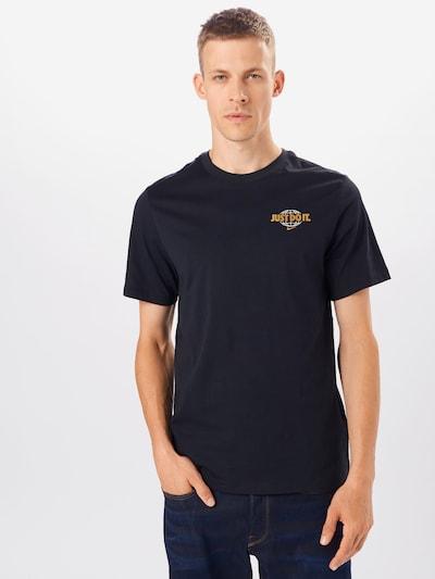 Nike Sportswear Majica | zlata / mešane barve / črna / bela barva: Frontalni pogled