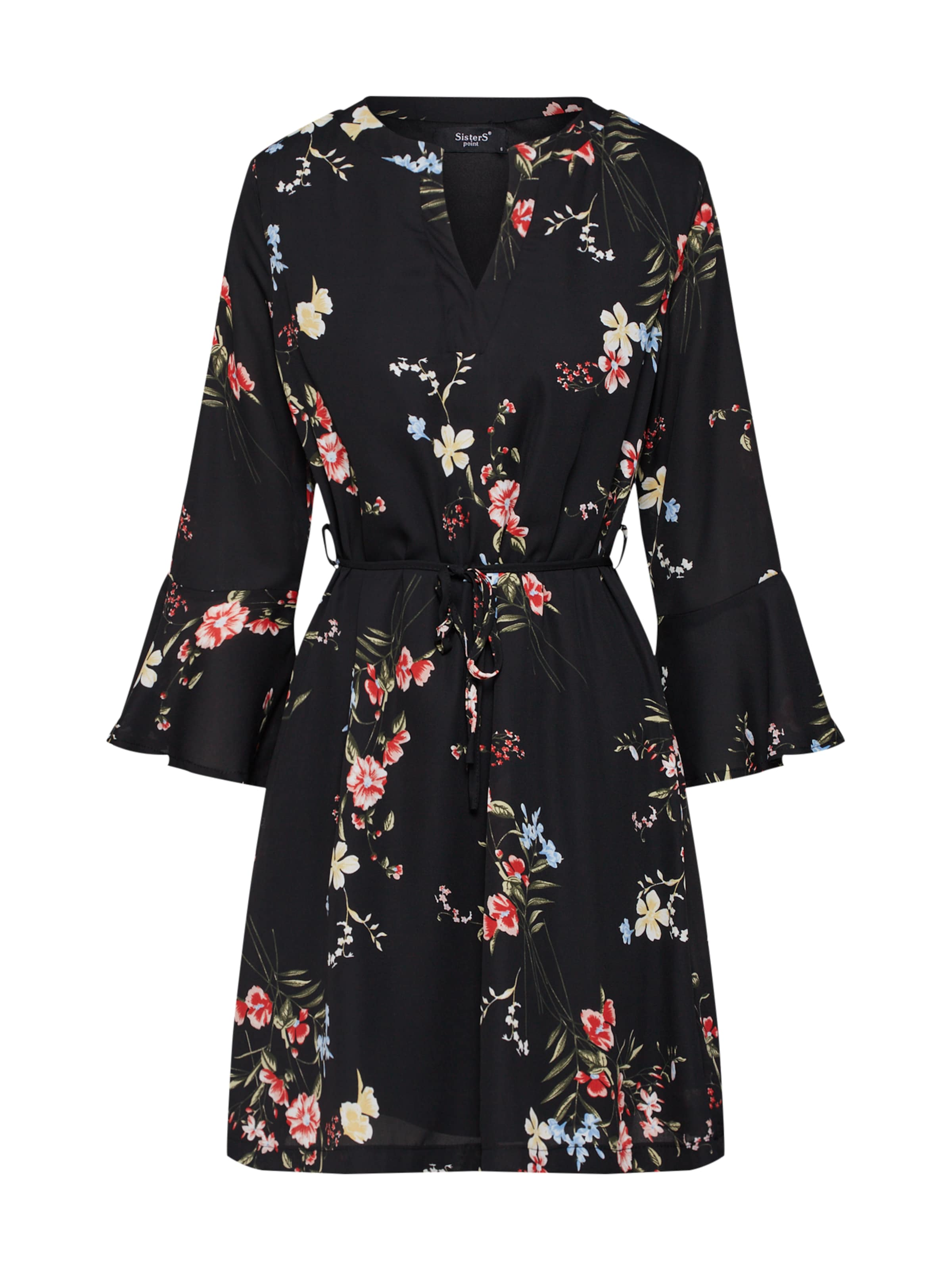 Noir Sisters 9' Point Robe 'glans En JauneVert wvmN08On