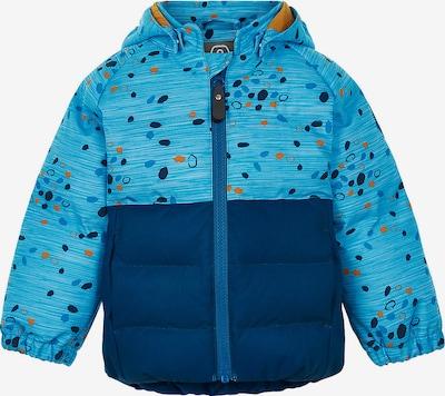 COLOR KIDS Winterjacke in blau / hellblau / ocker, Produktansicht