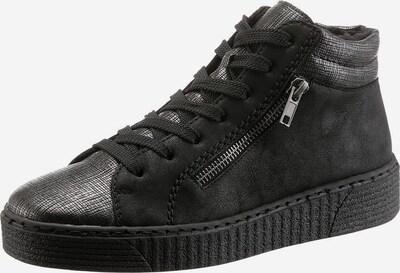 RIEKER Sneaker in schwarz / silber, Produktansicht