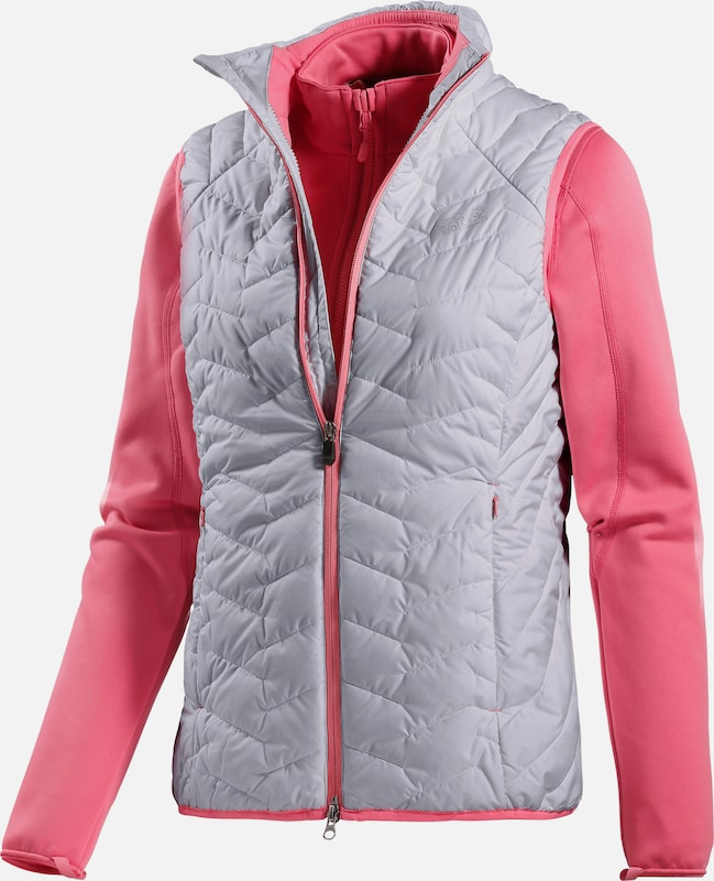 JACK WOLFSKIN 'Icy Trail' Steppweste in hellgrau   Rosa  Neu in diesem Quartal