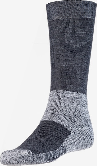 ROHNER Wandersocken 'Fibre Tech' in blue denim / graumeliert, Produktansicht