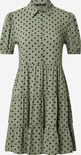 Trendyol Dolga srajca | oliva / črna barva: Frontalni pogled