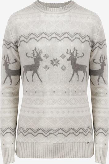 Finn Flare Pullover in grau / wollweiß, Produktansicht