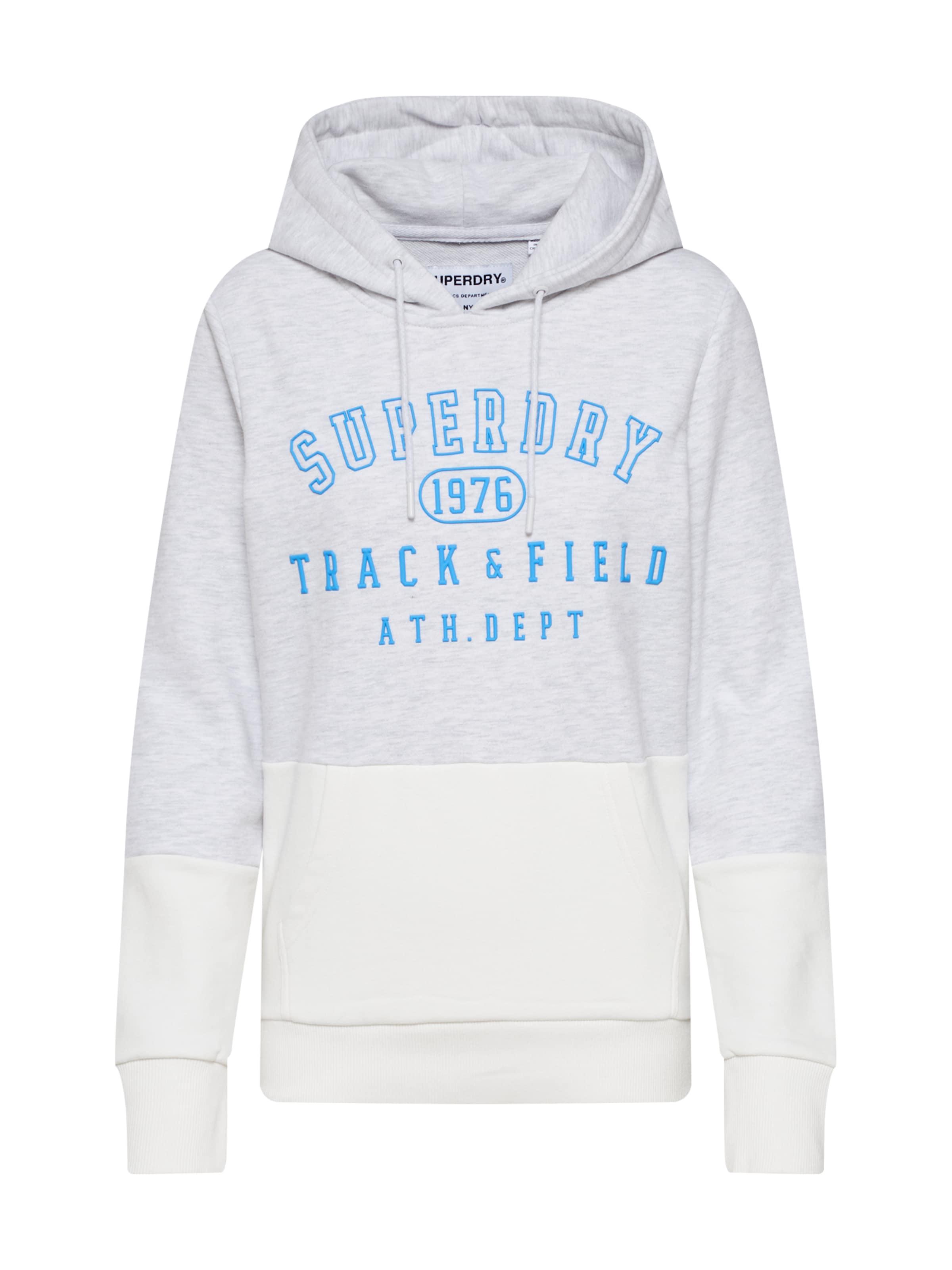 Superdry Tréning póló krém / égkék / világosszürke színben
