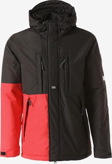 Young & Reckless Winterjas 'Lined Parka' in de kleur Rood / Zwart, Productweergave