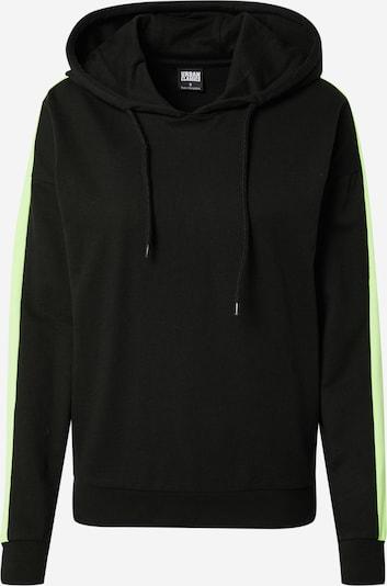 Urban Classics Sweat-shirt en vert fluo / noir, Vue avec produit
