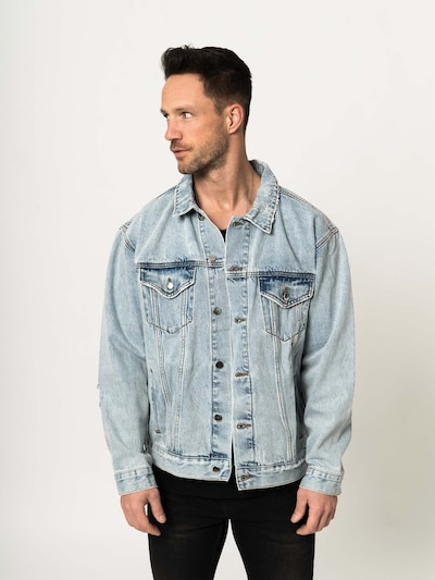 ABOUT YOU x Magic Fox Jacke 'Clemens' in blue denim: Frontalansicht