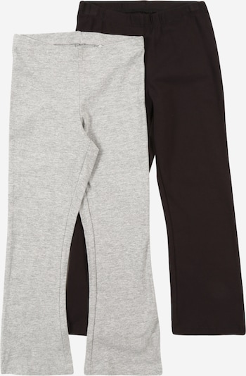 NAME IT Leggings 'Vivi' in hellgrau / schwarz, Produktansicht