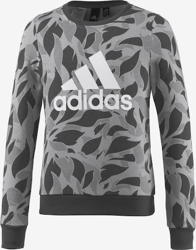 ADIDAS PERFORMANCE Sweatshirt in hellgrau / dunkelgrau / weiß, Produktansicht