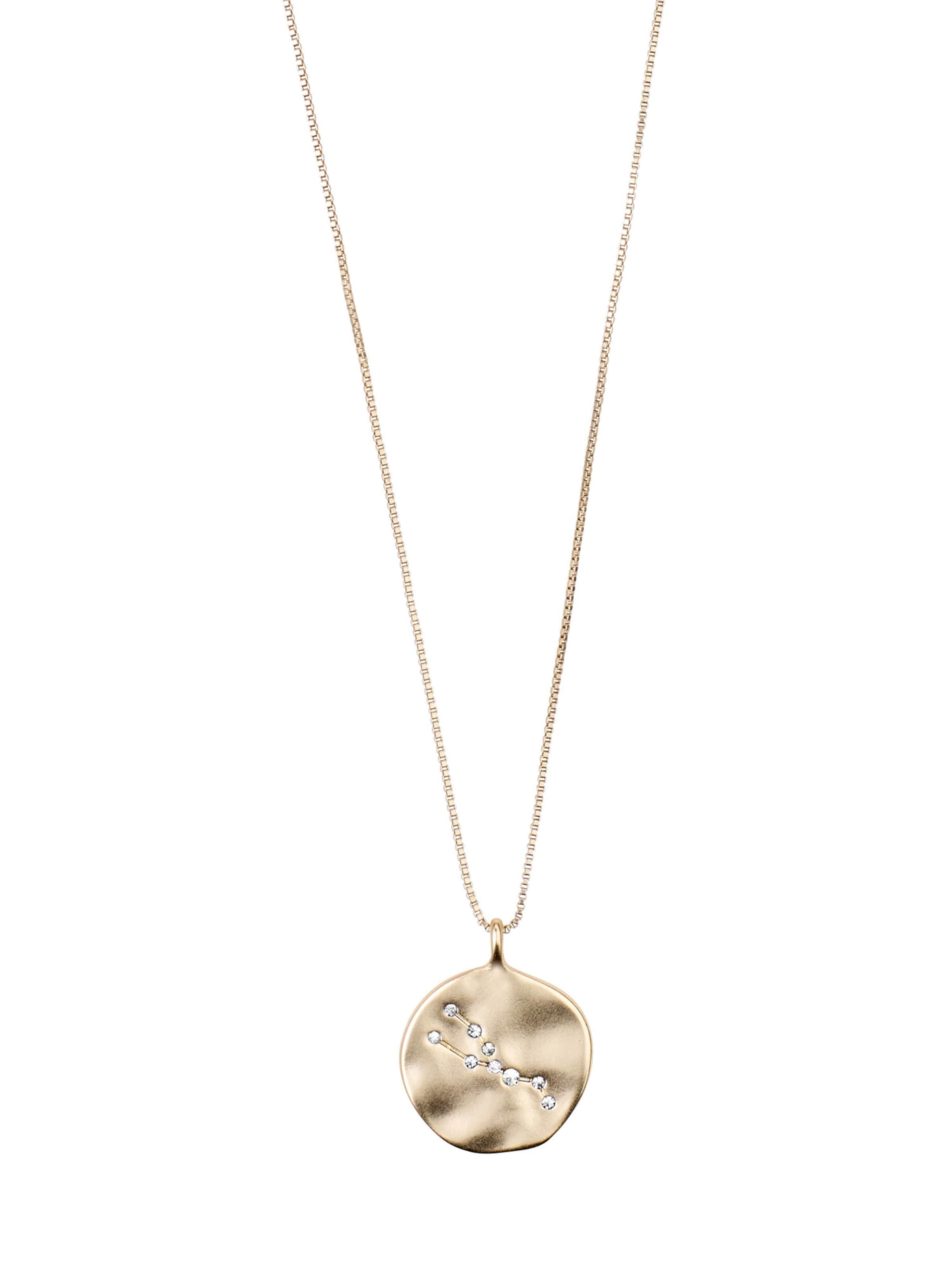 Pilgrim Halsband 'Taurus Zodiac Sign' i guld