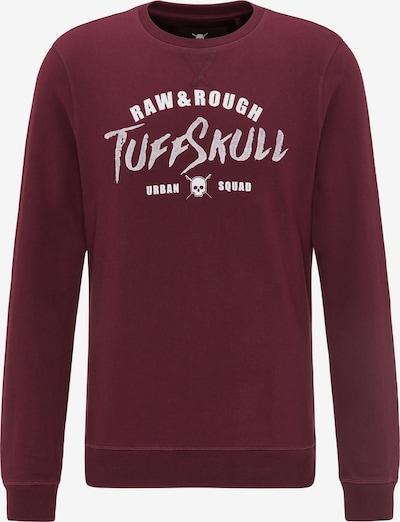 TUFFSKULL Sweatshirt in de kleur Bourgogne / Wit, Productweergave