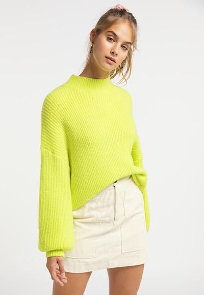 MYMO Pullover in neongelb, Modelansicht