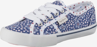 Pepe Jeans Sneakers Low 'BAKER FLOWERS' in blau, Produktansicht