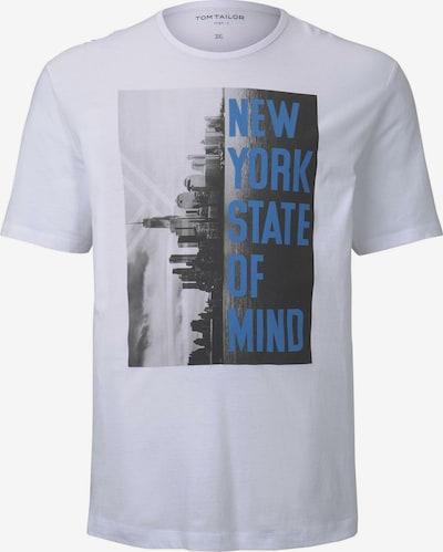 """TOM TAILOR Men Plus T-Shirt mit """"New York"""" Print in blau / schwarz / weiß, Produktansicht"""