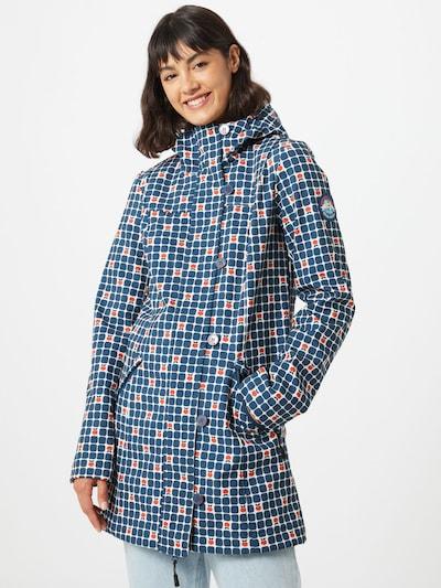 Blutsgeschwister Manteau mi-saison en bleu / orange / blanc, Vue avec modèle