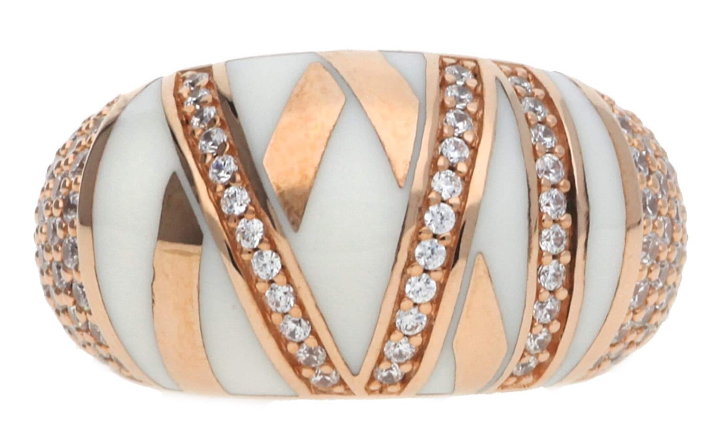 JOOP! Fingerring Silber Rosegold Stripes Verkauf Aus Deutschland ybNmXk