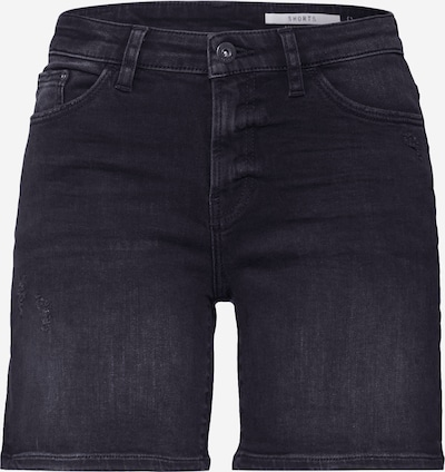 EDC BY ESPRIT Shorts in black denim, Produktansicht
