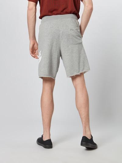 Nike Sportswear Shorts in graumeliert / weiß: Rückansicht