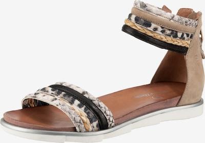 JOLANA & FENENA Sandale in hellbeige / hellbraun / silber, Produktansicht