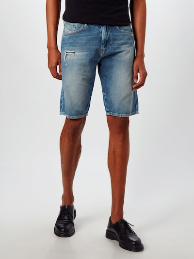 DIESEL Shorts 'THOSHORT SHORTS' in blue denim: Frontalansicht