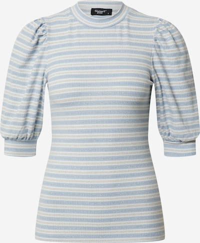 SISTERS POINT Shirt 'PANY-SS' in blau / offwhite, Produktansicht