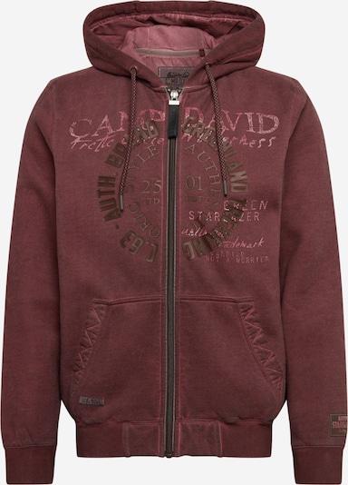 CAMP DAVID Sweatshirt in dunkelrot, Produktansicht