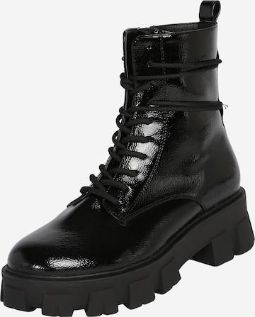 juoda ABOUT YOU Suvarstomieji kulkšnis dengiantys batai 'Melek Shoe'