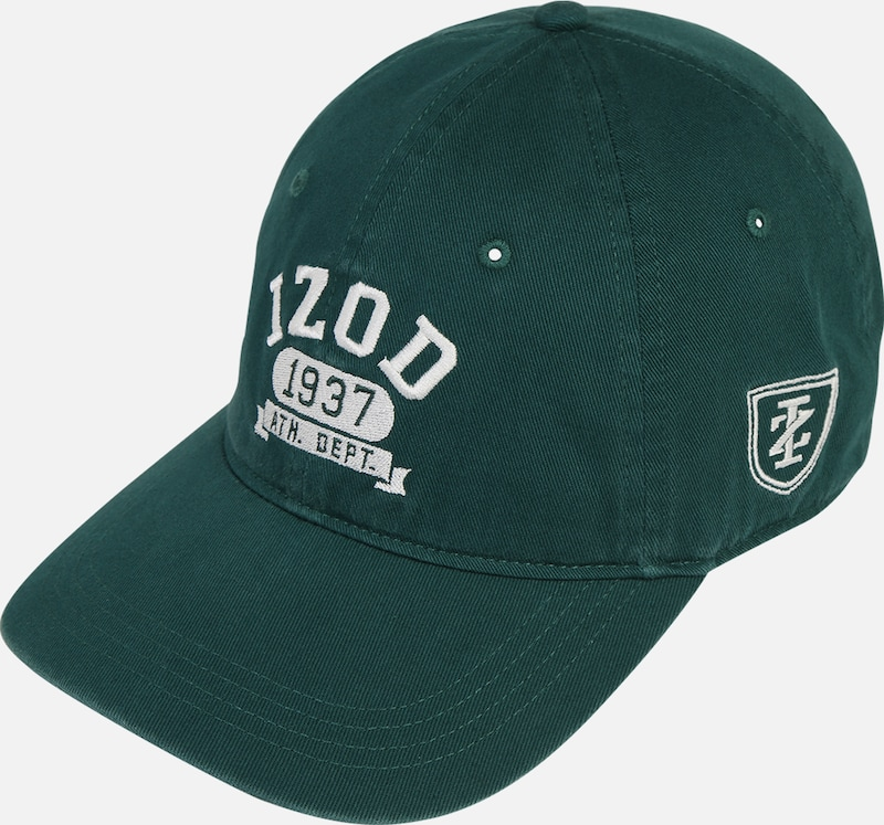 IZOD Cap 'ATHLETIC DEPT LOGO CAP' in grün, Produktansicht