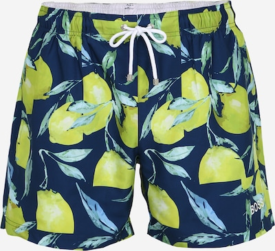 BOSS Badeshorts 'Lemon Shark' in blau, Produktansicht