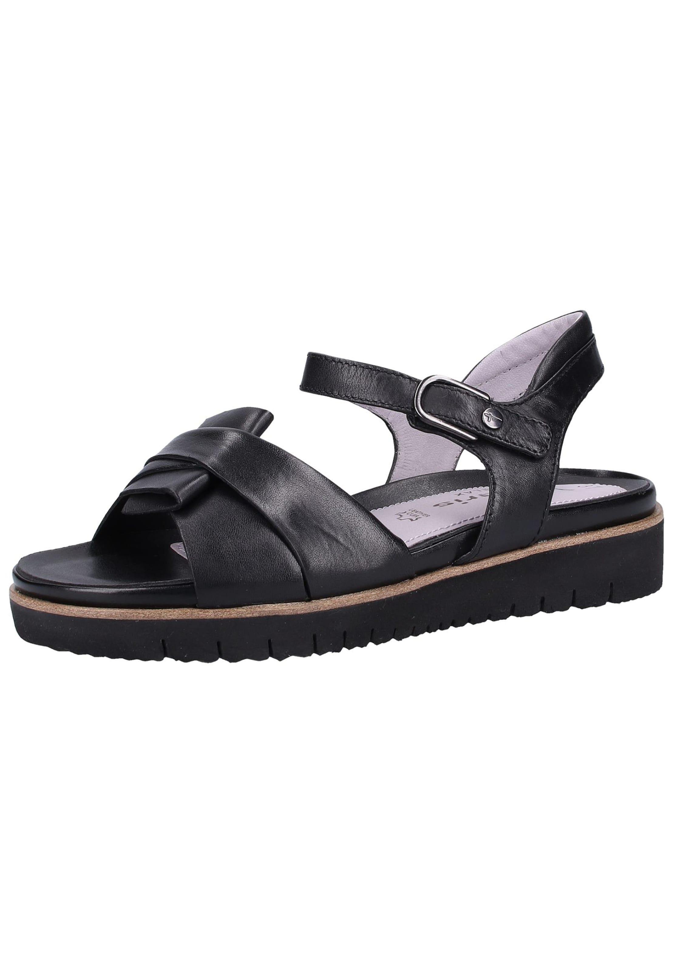 Sandales À Lanières Tamaris Noir En 7Y6anqWq