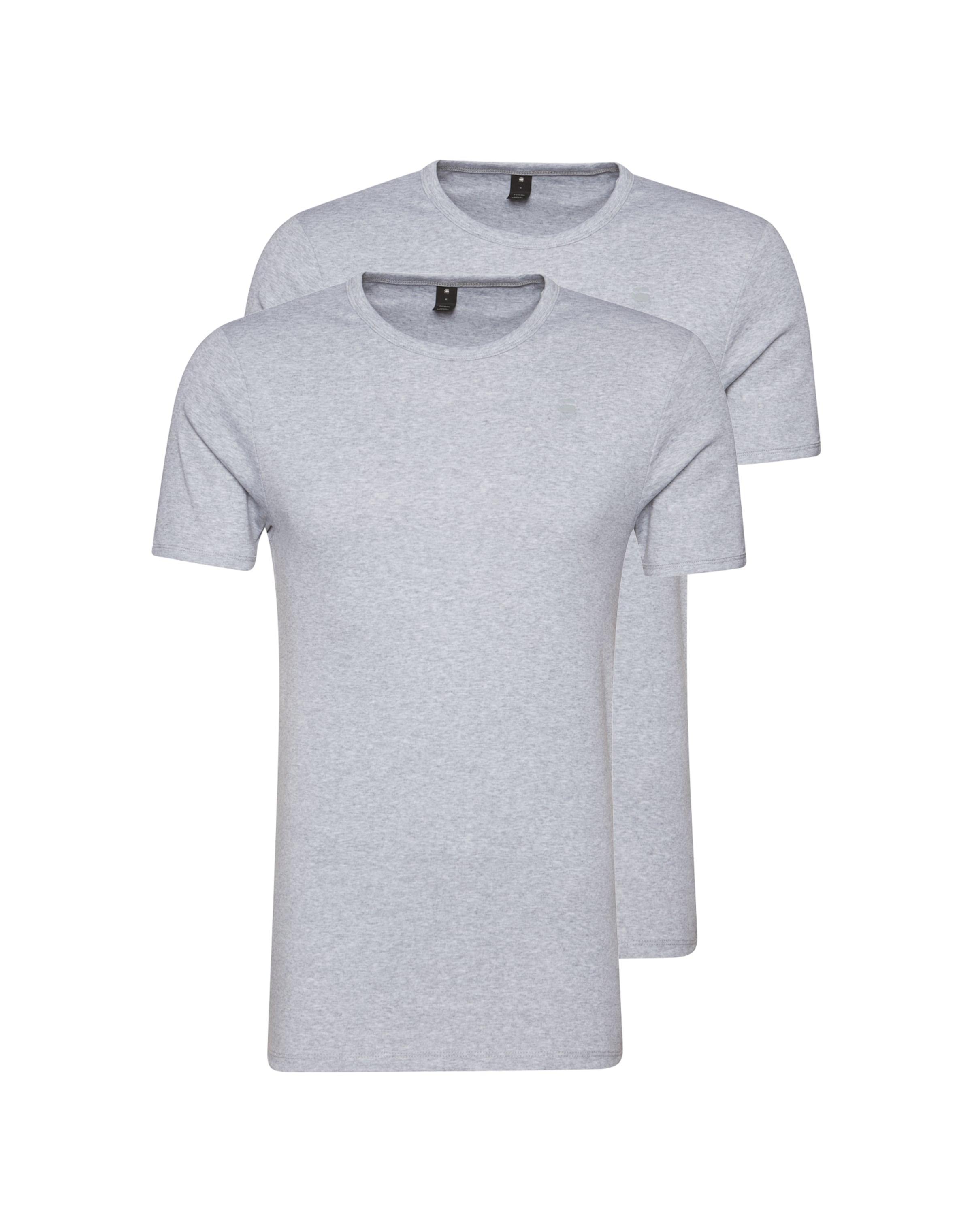 star G Raw 'base' Chiné T En shirt Gris lTFKc1J3