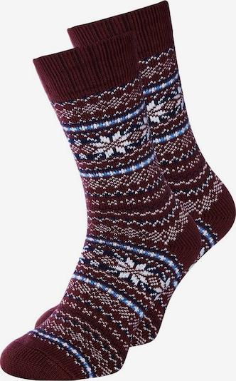 JACK & JONES Socken in himmelblau / burgunder / weiß, Produktansicht