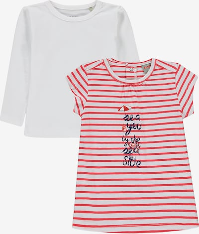 KANZ Set Kleid + Langarmshirt in hellrot / weiß, Produktansicht