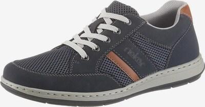RIEKER Chaussure à lacets en bleu marine / marron, Vue avec produit