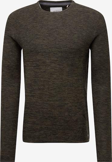 EDC BY ESPRIT Pullover 'NOOS 2-tone cnk' in khaki, Produktansicht