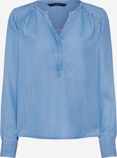 VERO MODA Bluse in blue denim: Frontalansicht