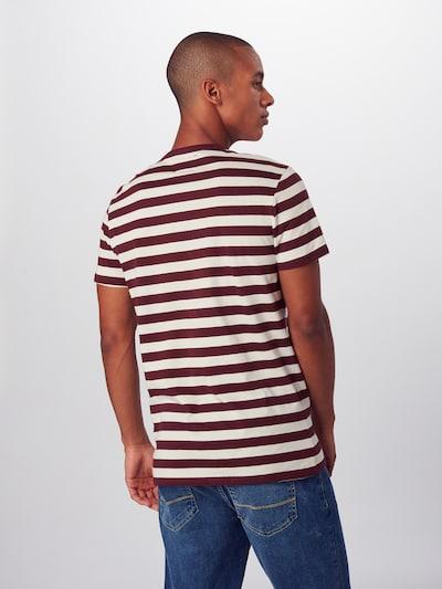 Hailys Men Majica 'Malik' | vinsko rdeča / off-bela barva: Pogled od zadnje strani