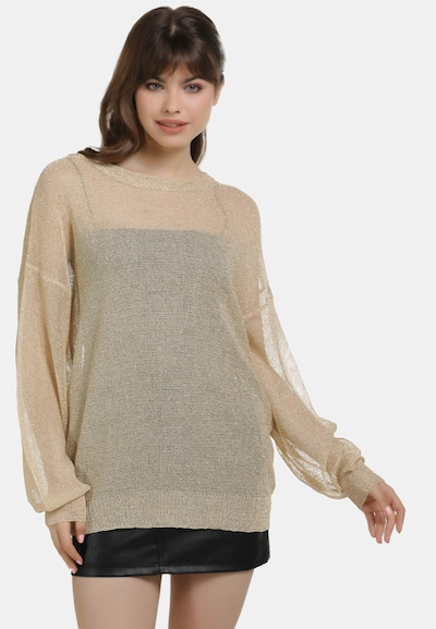 myMo at night Pullover in gold, Modelansicht