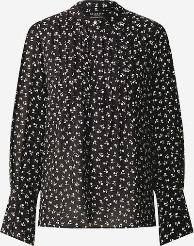 SELECTED FEMME Bluse 'LIVIA' in schwarz / offwhite, Produktansicht