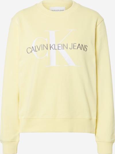 Calvin Klein Jeans Sweatshirt in gelb / schwarz / weiß, Produktansicht