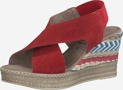 JANA Sandales en mélange de couleurs / rouge, Vue avec produit