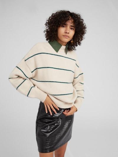 EDITED Pullover 'Katara' in beige / grün, Modelansicht