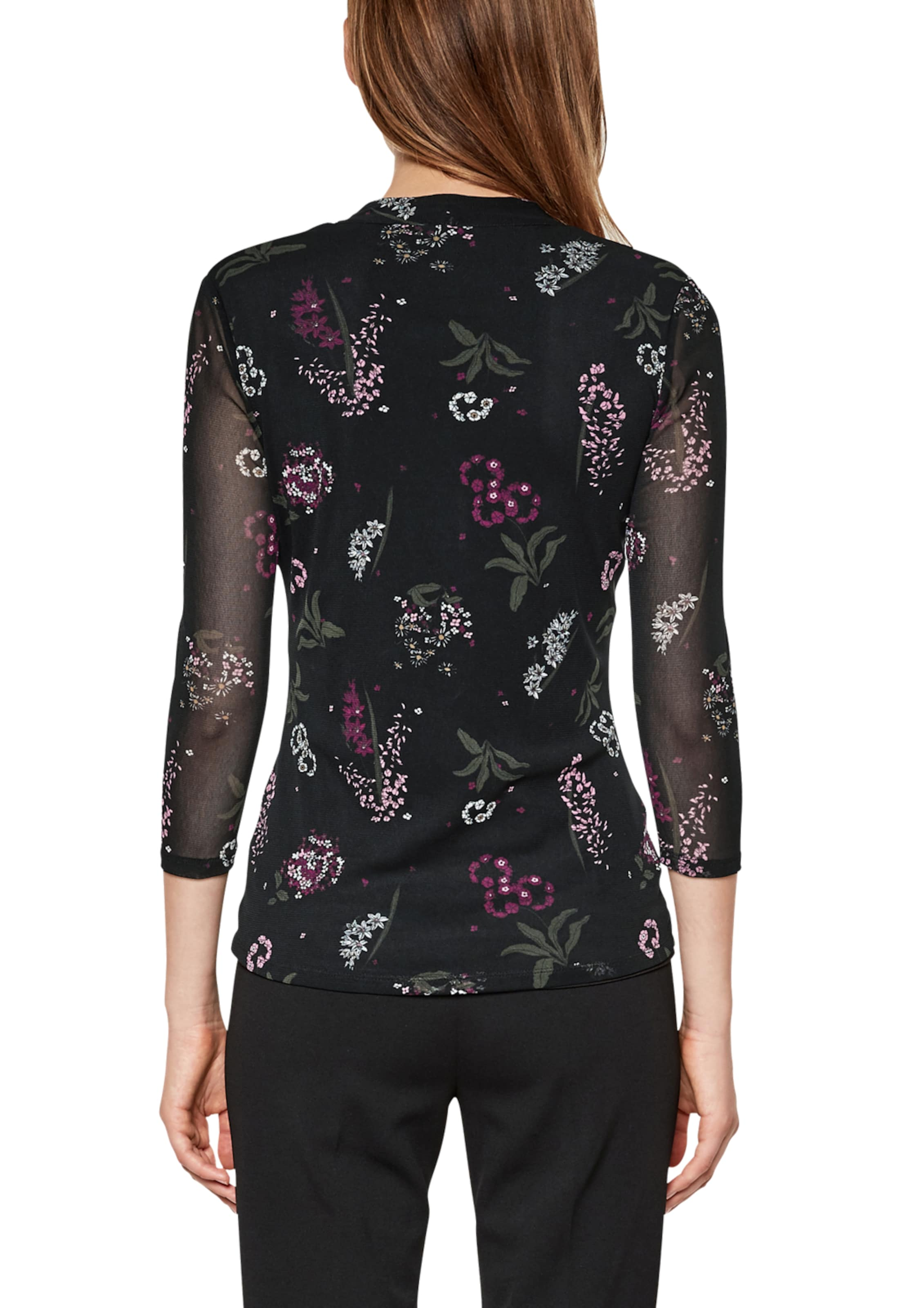 PinkSchwarz Label In Black S oliver Shirt eQBoWrxdCE