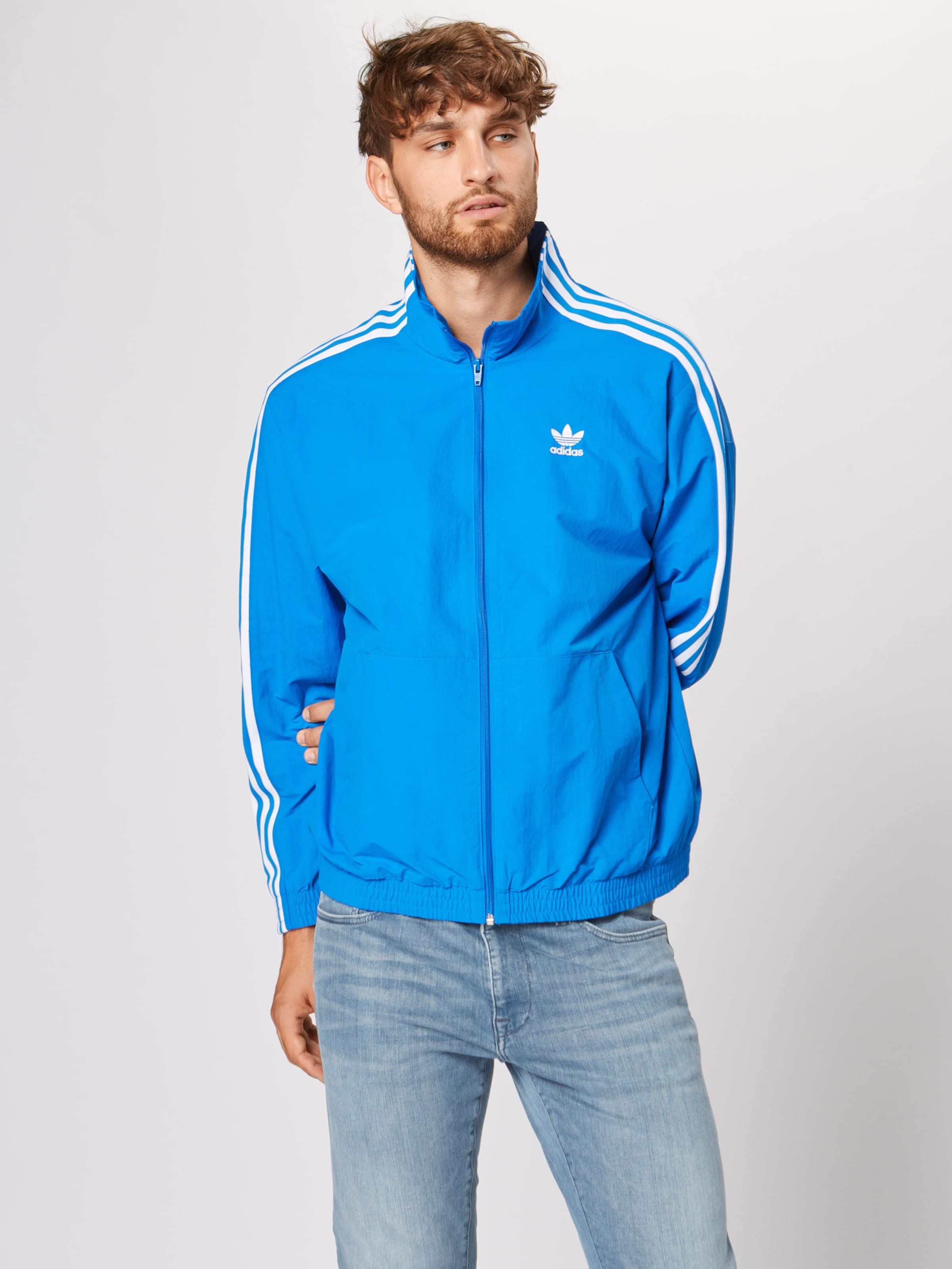 In Adidas Originals Tt' Blau 'lock Sweatjacke Up ZOPkiXu