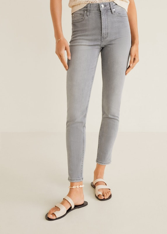 MANGO Jeans 'noa' in grey denim, Modelansicht