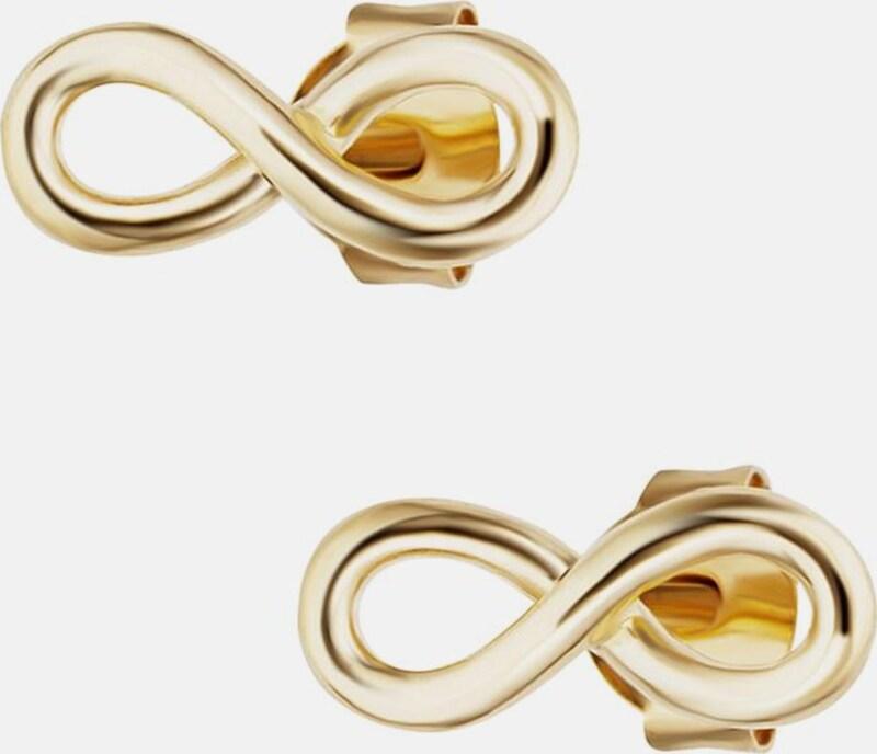 caï Paar Ohrstecker 'Infinity, Unendlichkeitsschleifen, together forever, C7374E/90/00'