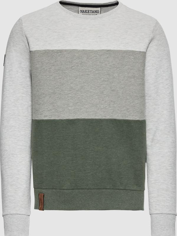 Naketano Sweatshirt in grau   dunkelgrau   grasgrün  Freizeit, schlank, schlank