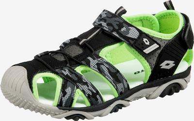 LOTTO Sandale 'Sumatra' in grau / grün / schwarz, Produktansicht